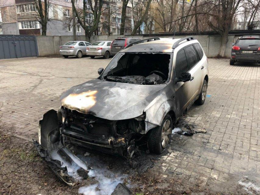 Сожгли автомобиль супруги главы Укртрансбезопасности в Днепропетровской области | Прихист