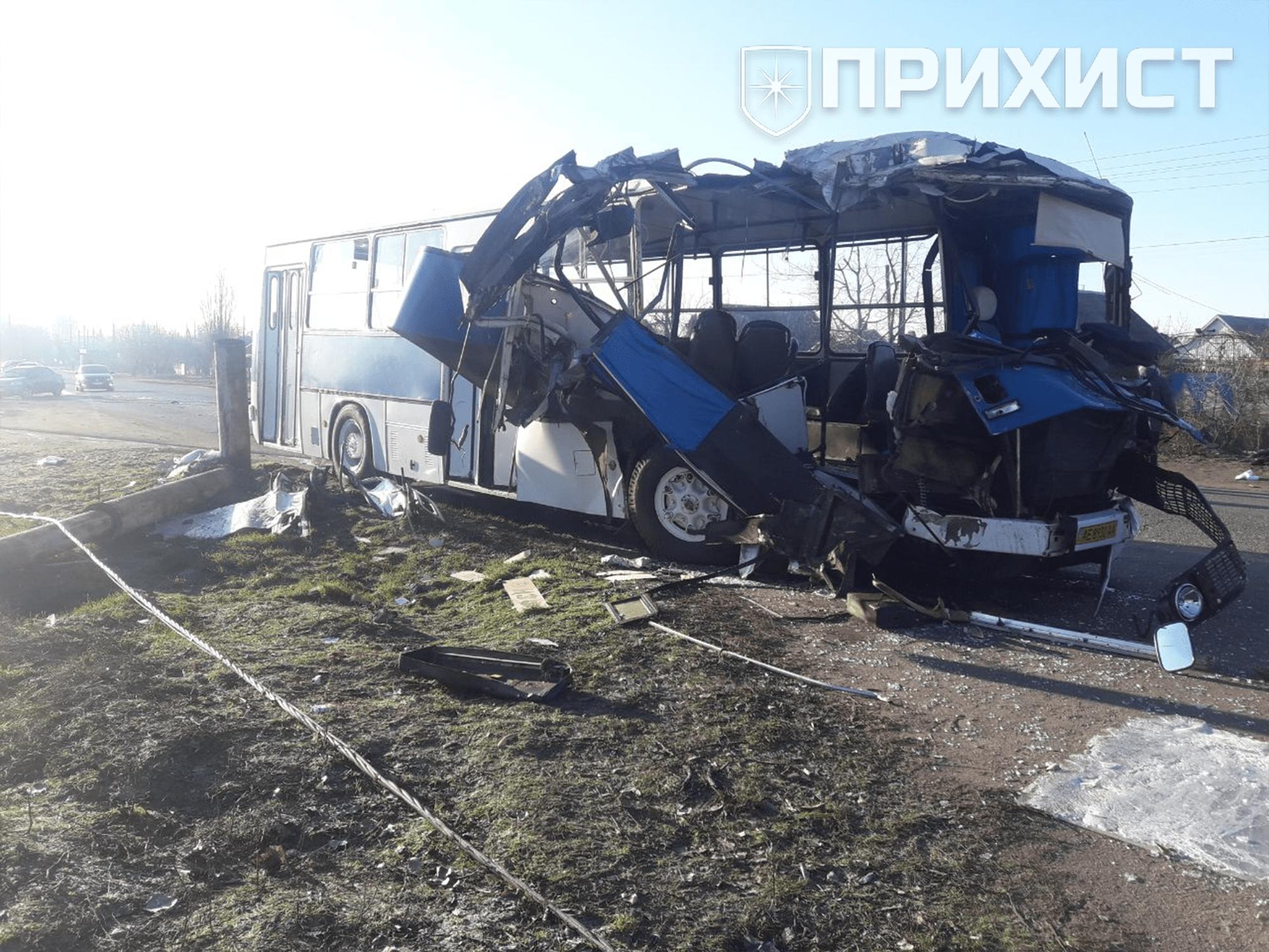В районе газостанции серьезная авария с участием автобуса и двух легковых автомобилей | Прихист