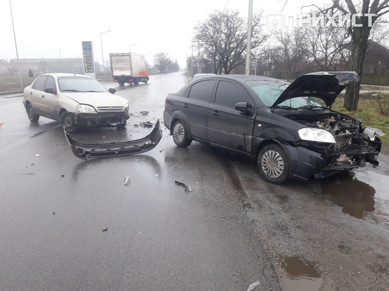 На выезде из города произошла автомобильная авария | Прихист