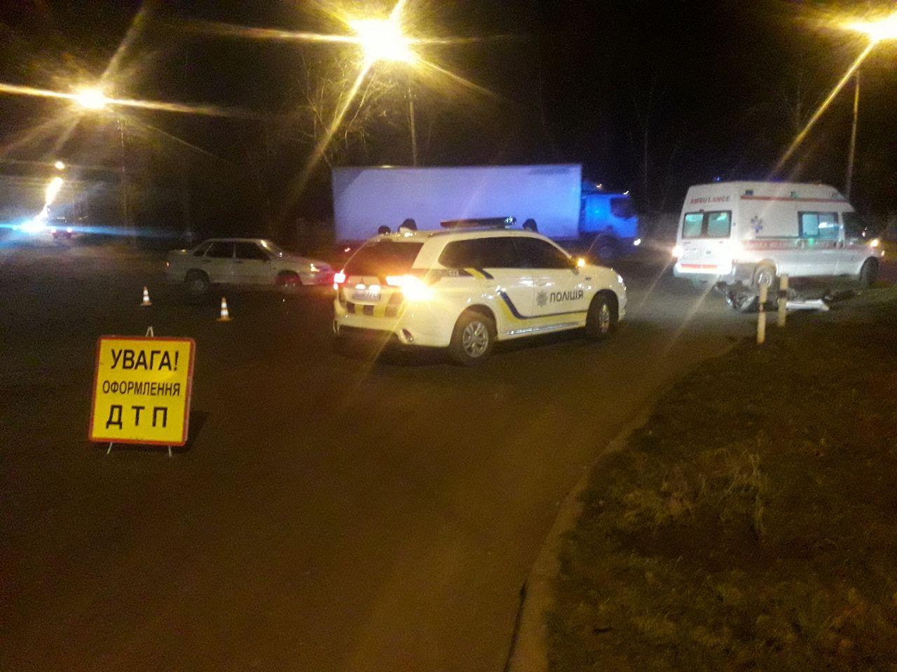 Серый ВАЗ сбил водителя скутера (видео)   Прихист