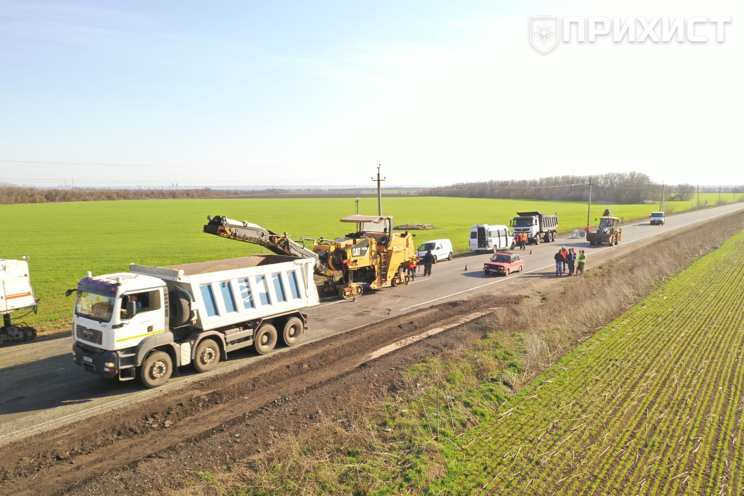 Начался ремонт трассы «Никополь — Днепр»   Прихист