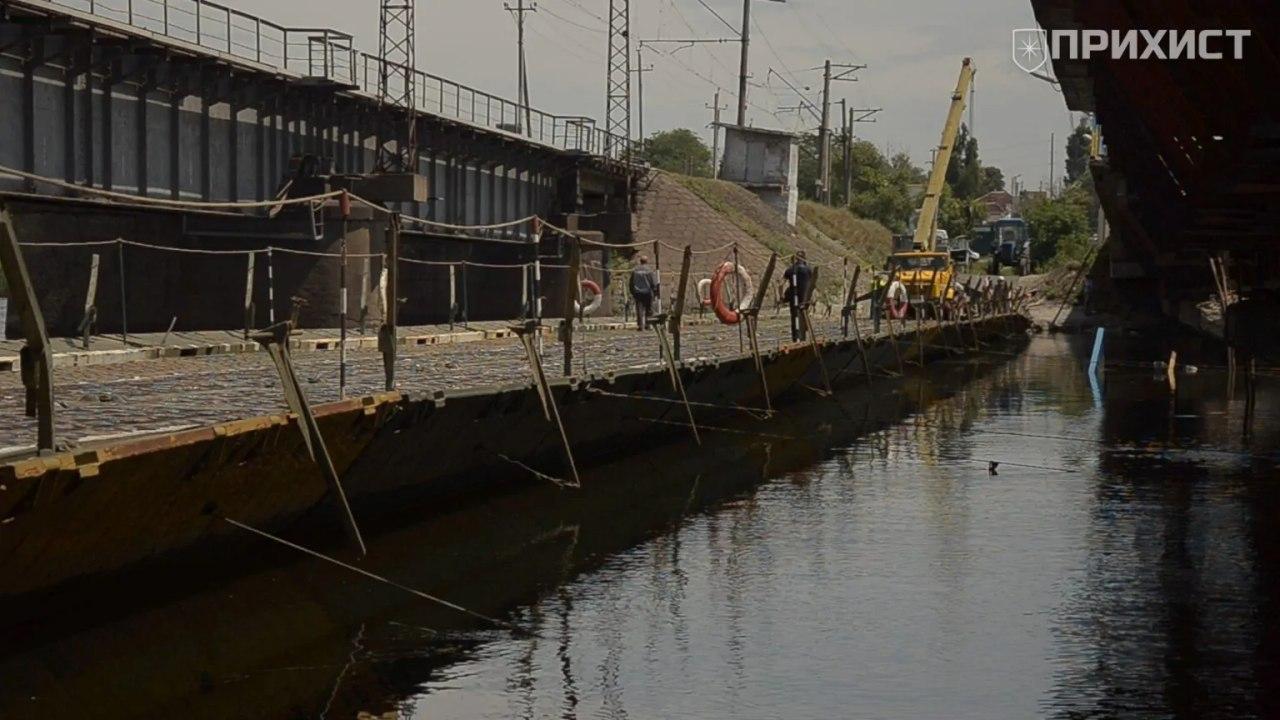 Понтонный мост временно закрывают на ТО | Прихист