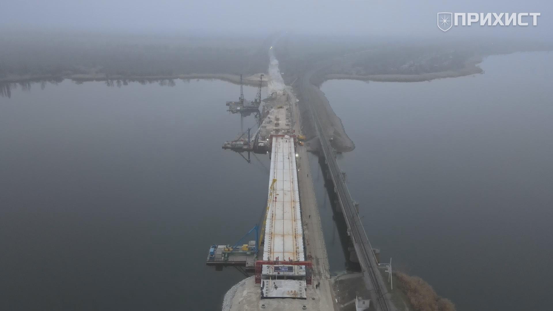 Строительство моста под Никополем | Прихист