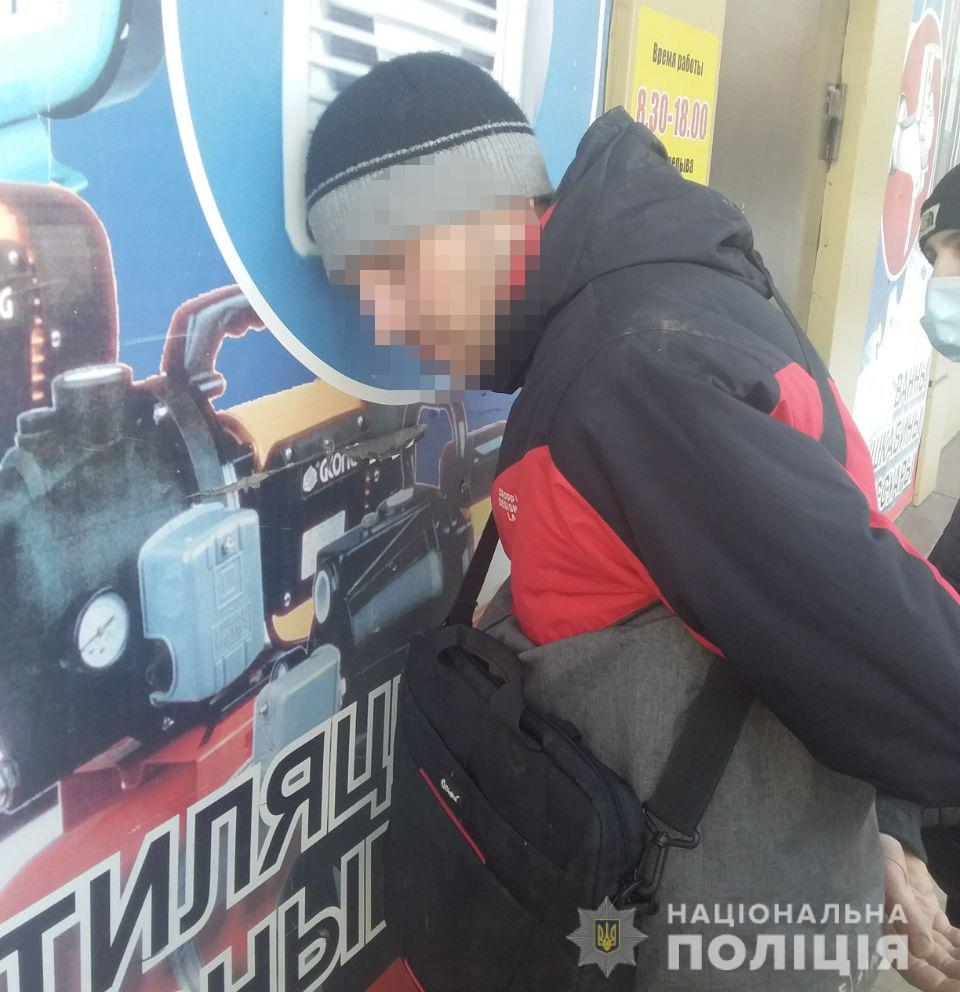 В Никополе задержали мужчину, который ограбил магазин, угрожая топором продавщице | Прихист