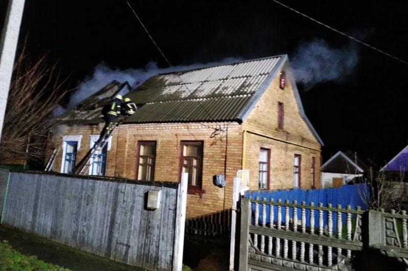 Подробности пожара на поселке Северный   Прихист