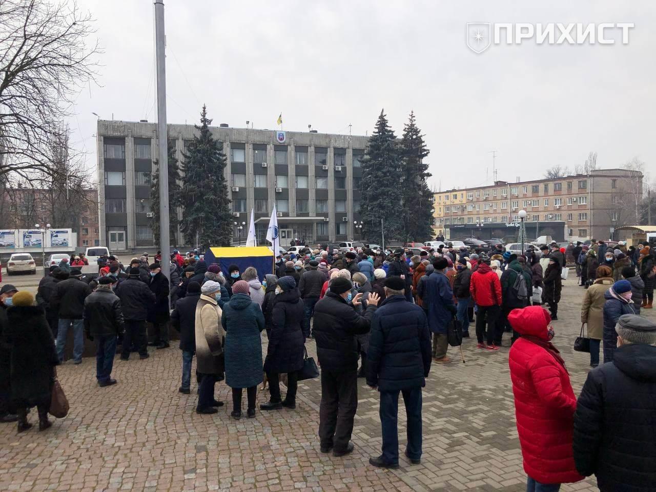 11 января жители Покрова вышли на митинг против поднятия тарифов на газ и электроэнергию   Прихист
