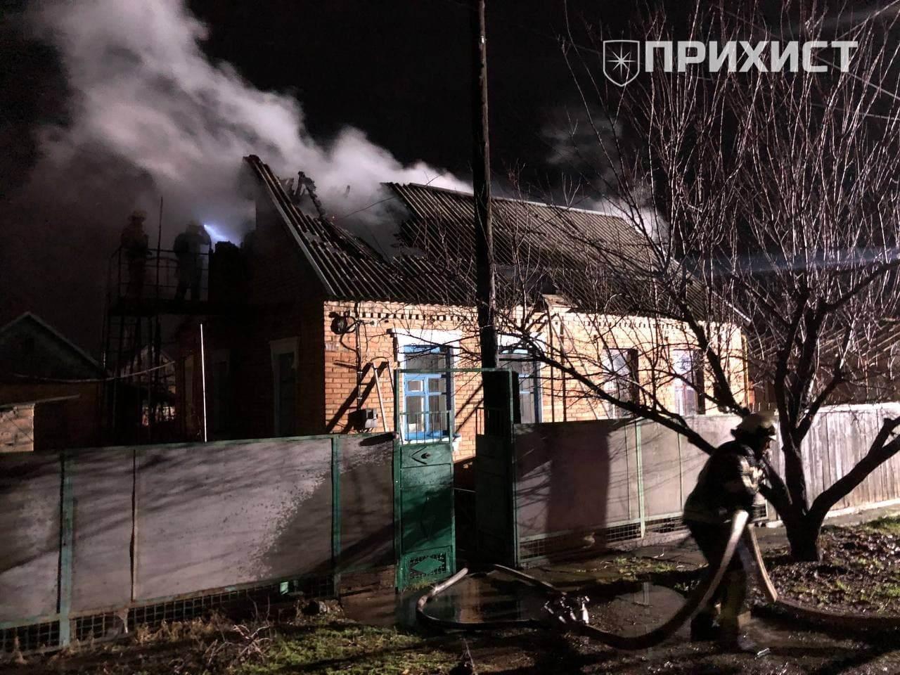 На поселке Северный горел жилой дом   Прихист
