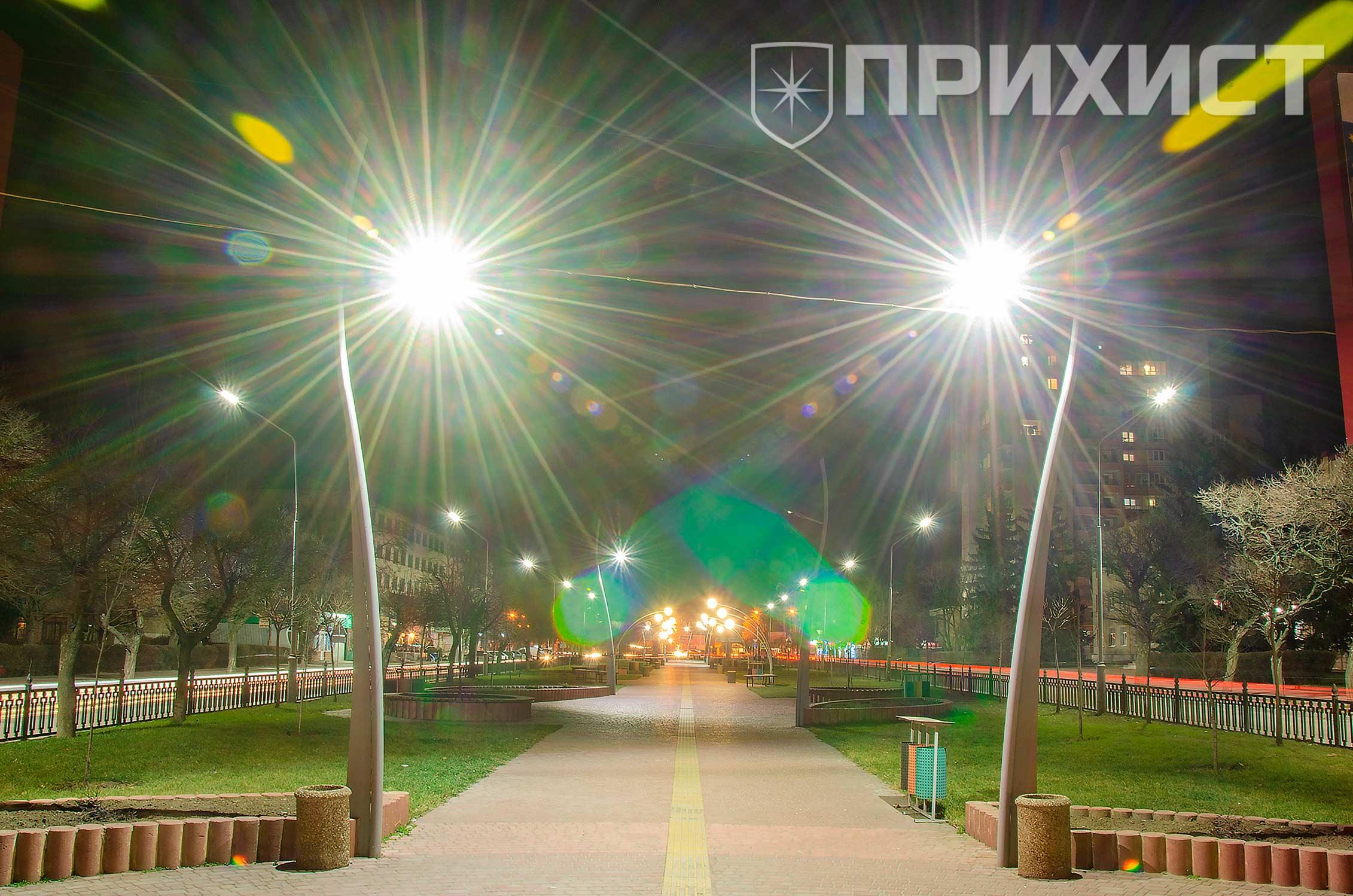 Ночной Никополь. Фото | Прихист