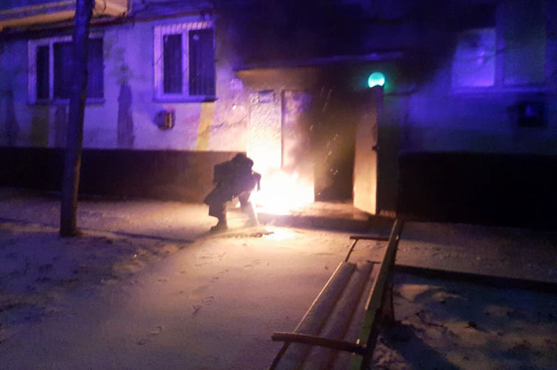 В Покрове на улице Курчатова произошел пожар | Прихист