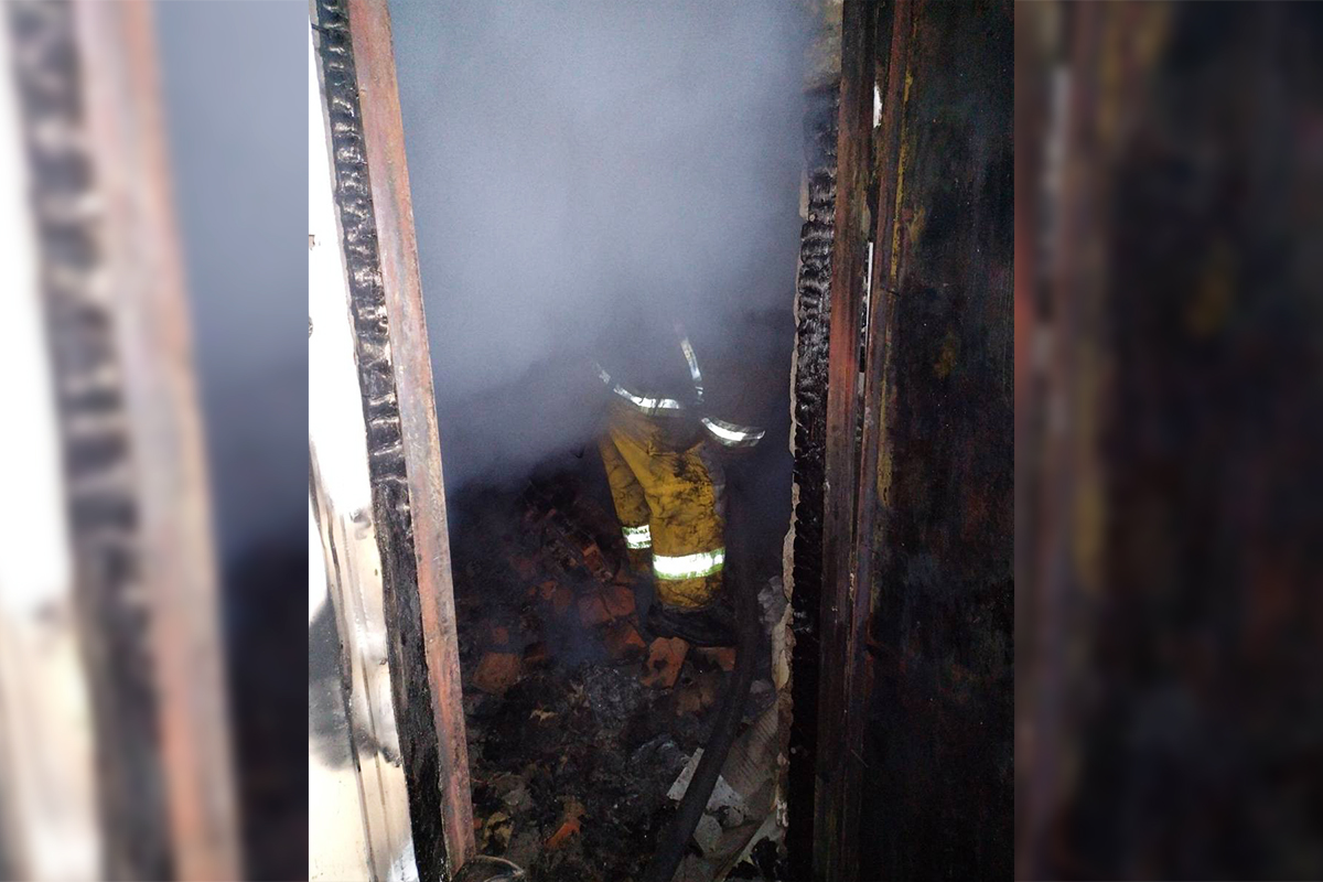 В селе Чкалово произошел пожар   Прихист
