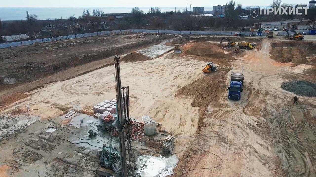 Продолжается строительство гипермаркета «Эпицентр» в Никополе. Видео | Прихист