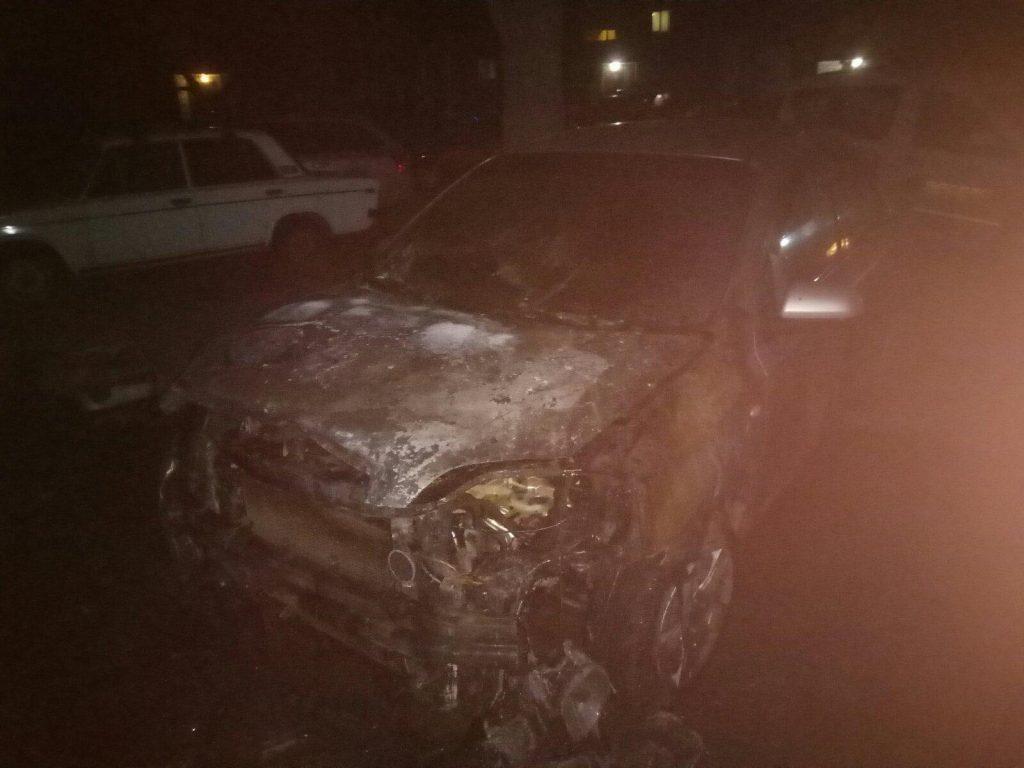 В Марганце ночью сгорел автомобиль   Прихист