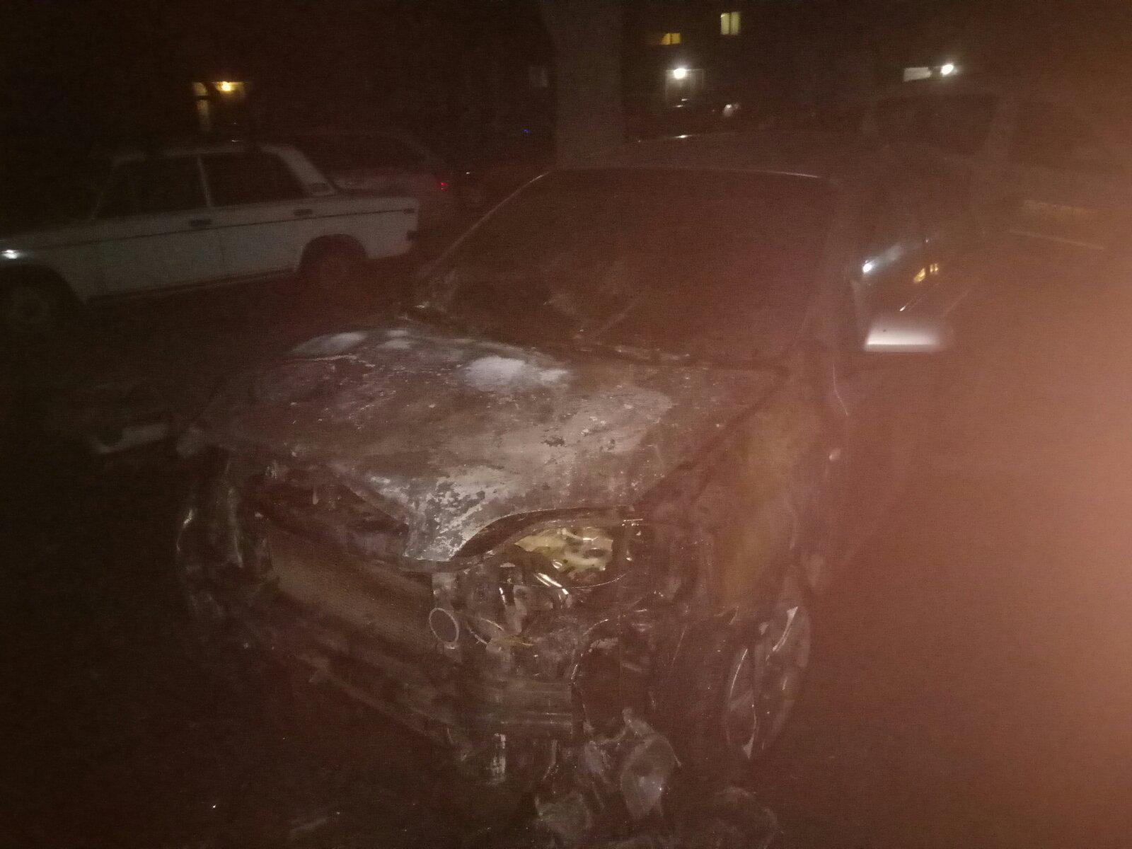 В Марганце ночью сгорел автомобиль | Прихист