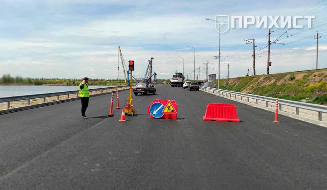 На Алексеевском мосту проводятся ремонтные работы. Движение ограничено   Прихист