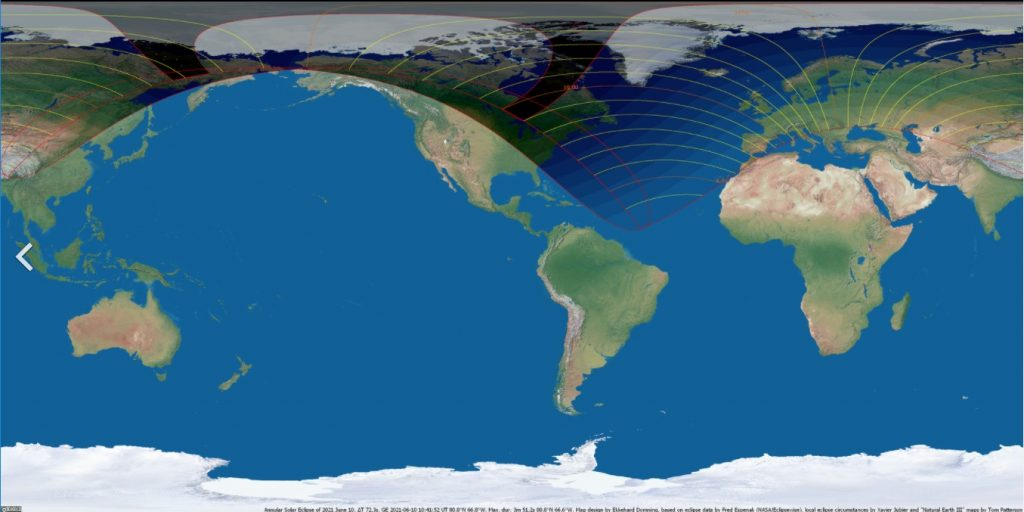 Карта затмения