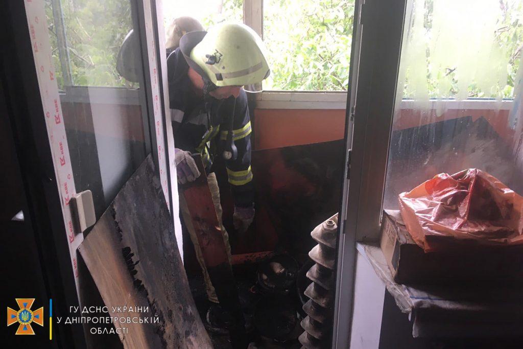 Из-за пожара в Марганце пострадал ребенок   Прихист