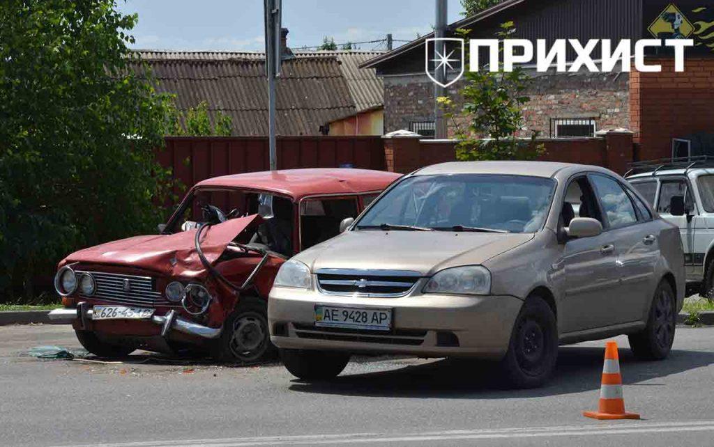 Авария на перекрестке ул. Херсонская и ул. Сечевая   Прихист