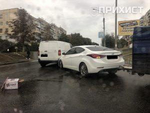 На пересечении ул. Шевченко и ул. Усова столкнулись Hyundai и Citroen | Прихист