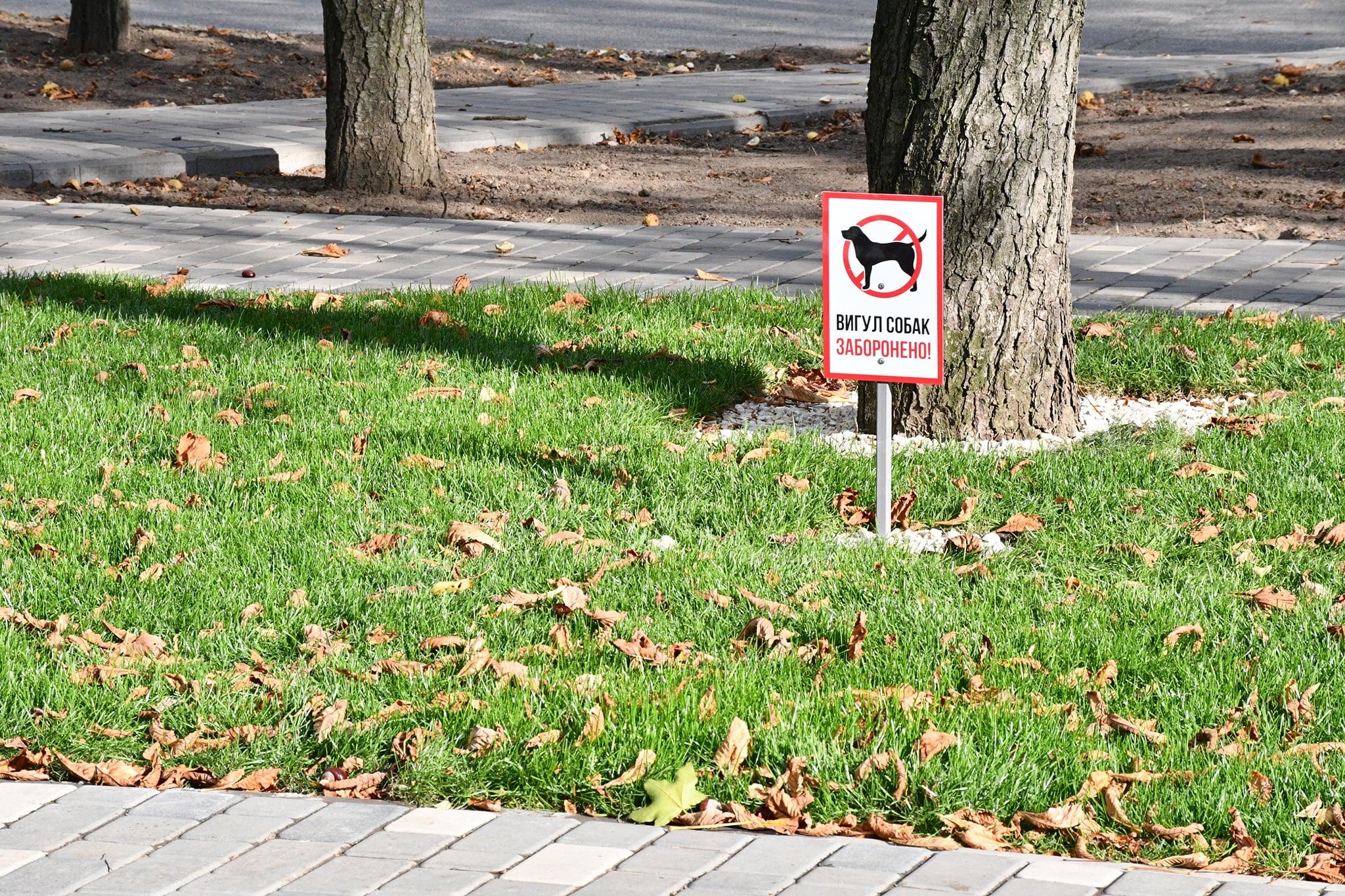На реконструированной аллее по ул. Каштановой запретили выгул собак | Прихист