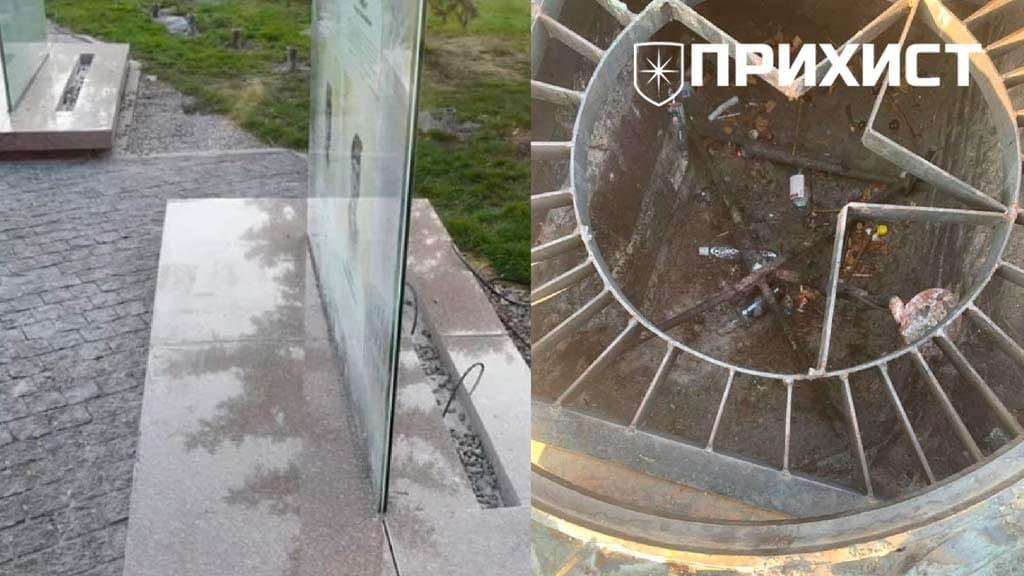 В Никополе вандалы добрались до Вечного огня и новой аллеи участникам АТО   Прихист